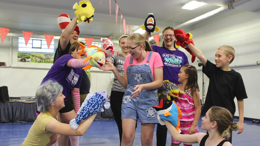 Seussical in Rehearsal (from Morris Sun Tribune)